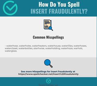 Correct spelling for insert fraudulently