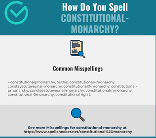 Correct spelling for constitutional-monarchy