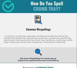 Correct spelling for crumb tray