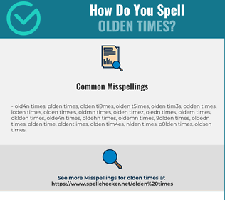 Correct spelling for olden times