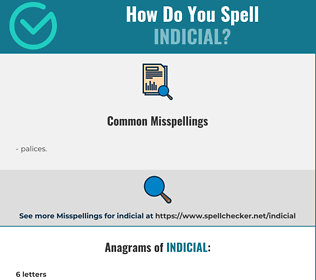 Correct spelling for indicial