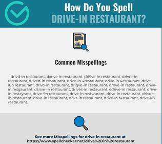 Correct spelling for drive-in restaurant