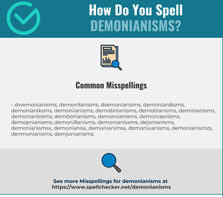Correct spelling for demonianisms