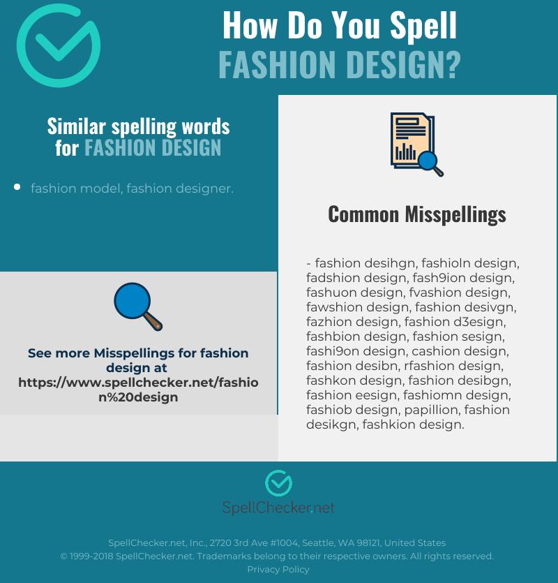 Correct Spelling For Fashion Design Infographic Spellchecker Net