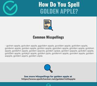 Correct spelling for golden apple
