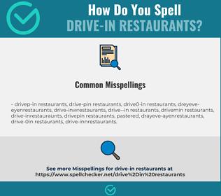 Correct spelling for drive-in restaurants
