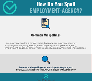 Correct spelling for employment-agency