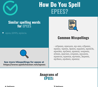 Correct spelling for epees