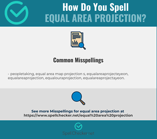 Correct spelling for equal area projection