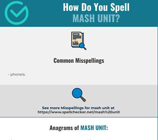 Correct spelling for mash unit