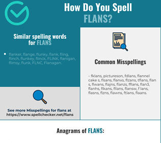 Correct spelling for flans