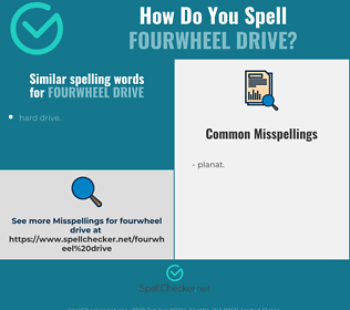 Correct spelling for fourwheel drive