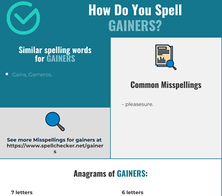 Correct spelling for gainers