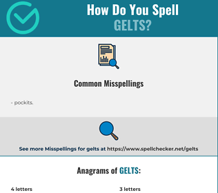 Correct spelling for gelts
