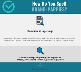 Correct spelling for grand-pappies