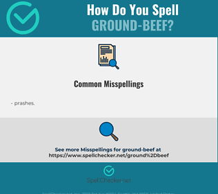 Correct spelling for ground-beef
