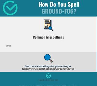 Correct spelling for ground-fog