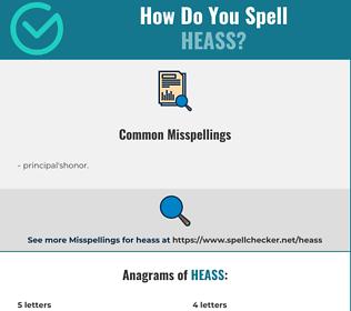 Correct spelling for heass