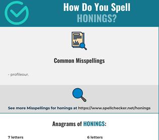 Correct spelling for honings