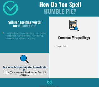 Correct spelling for humble pie
