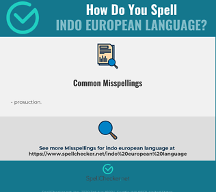 Correct spelling for indo european language