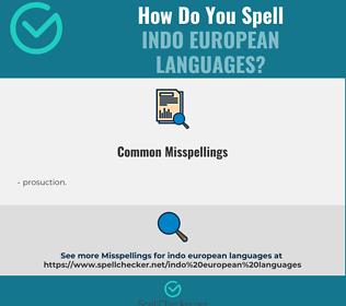 Correct spelling for indo european languages