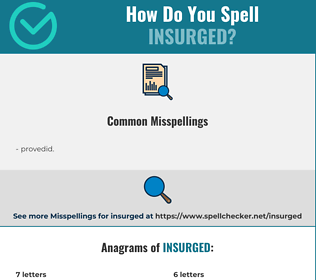 Correct spelling for insurged