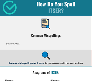 Correct spelling for itser