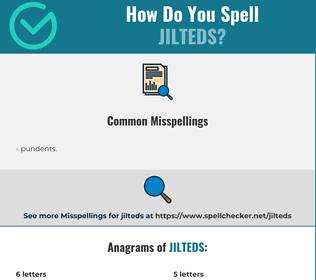Correct spelling for jilteds