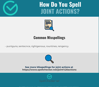 Correct spelling for joint actions
