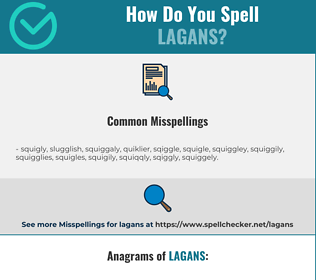Correct spelling for lagans