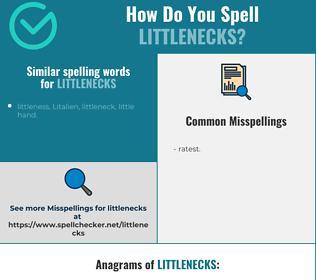 Correct spelling for littlenecks