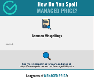 Correct spelling for managed price