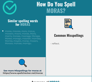 Correct spelling for moras