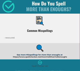 Correct spelling for more than enoughs