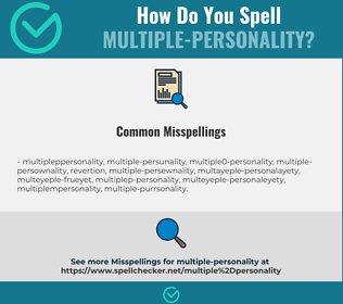 Correct spelling for multiple-personality