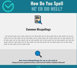 Correct spelling for ne' er do well