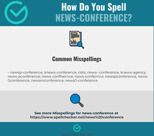 Correct spelling for news-conference
