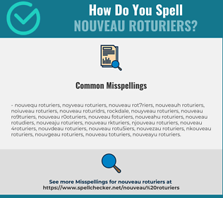 Correct spelling for nouveau roturiers