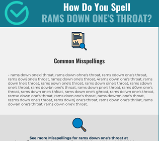 Correct spelling for rams down one's throat