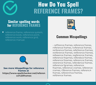 Correct spelling for reference frames