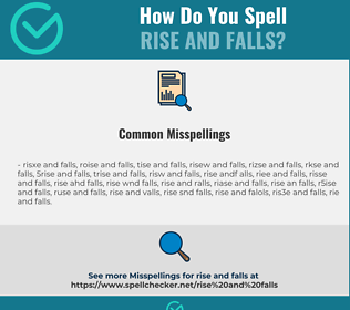 Correct spelling for rise and falls
