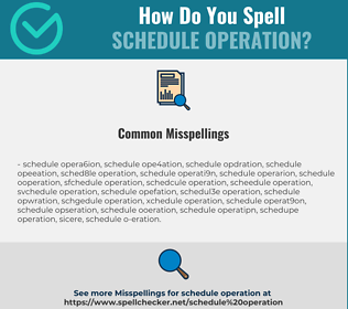 Correct spelling for schedule operation