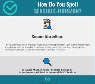 Correct spelling for sensible-horizon