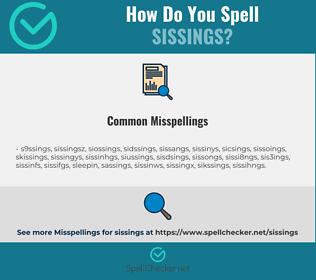 Correct spelling for sissings