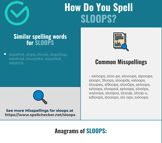 Correct spelling for sloops