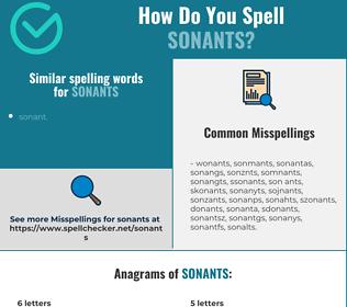 Correct spelling for sonants