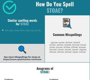 Correct spelling for stoae