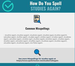 Correct spelling for studies again
