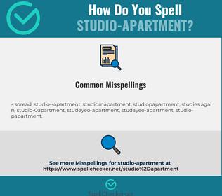 Correct spelling for studio-apartment
